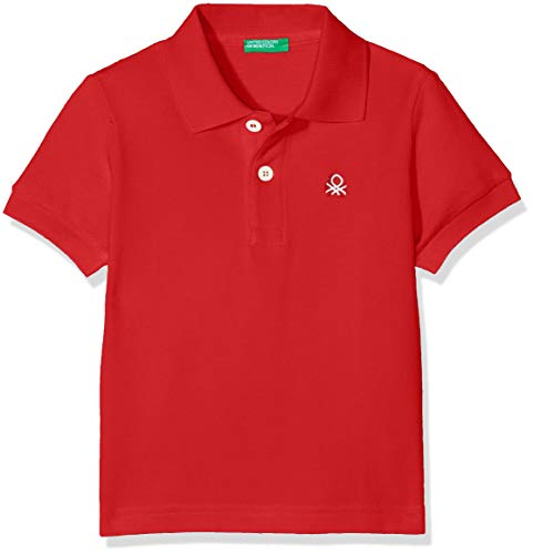 United Colors of Benetton Jungen H/s Polo Shirt Poloshirt, Rot (Rosso 015), One Size (Herstellergröße: XX)