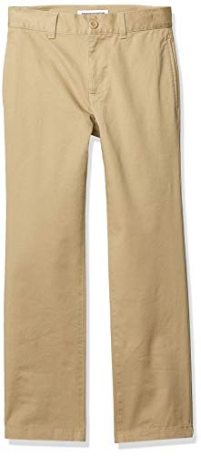 Amazon Essentials Straight Leg Flat Front Uniform Chino Pant Pants, Caqui, 10(S)