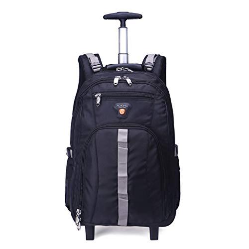 Portatile Valigia a rotelle, Zaini con Scomparti for Notebook, Business Travel Trolley Impermeabili And Wear Zaino Resistente (Colore : Nero, Size : 37 * 24 * 58cm)