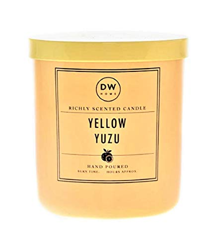 Richly Scented Yellow Yuzu | Citrus + SEA Salt Scented Candle in Votive Jar with Lid, 4 Oz.