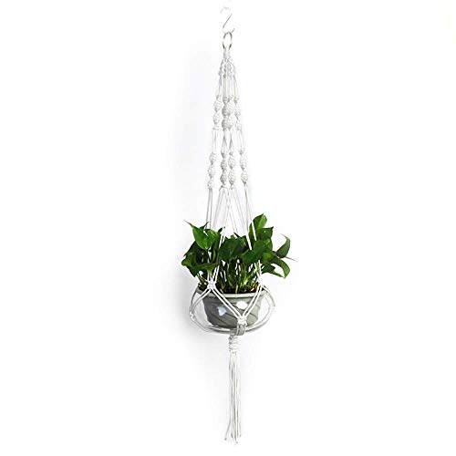 Plant Hanger Macrame Hanging Planter,Wall Hanging Plant Holders,Hanging Planter Indoor Outdoor Handmade Cotton Rope for Garden Decoration Home Decoration
