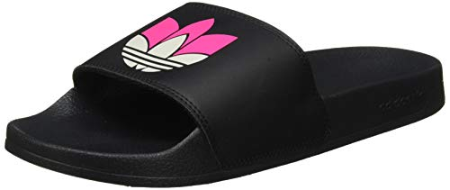 adidas Damen Adilette LITE W Gymnastikschuh, Core Black Grey Two F17 Shock Pink, 44.5 EU
