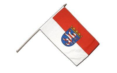 Stockflagge Deutschland Hessen - 30 x 45 cm