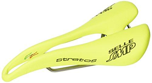Selle SMP Stratos, Sella Bicicletta Corsa Unisex-Adulto, Giallo Fluo Cromato, M