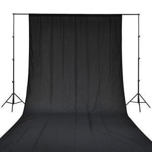 SHOPEE BRANDED 8 x12 FT BLACK LEKERA BACKDROP PHOTO LIGHT STUDIO PHOTOGRAPHY BACKGROUND