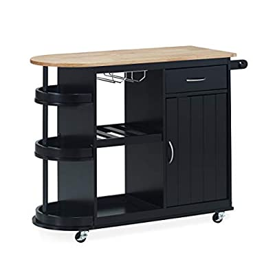 Christopher Knight Home Debby Kitchen Cart with Wheels by Christopher Knight Home