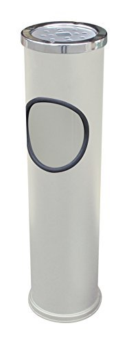 日本製 Japan 土井金属化成 スタンド灰皿 CAN(WH) 【まとめ買い6個セット】