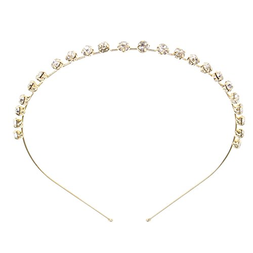 Elegante Damen Haarschmuck Haarreifen Haarkrone Haar Dekoration, 3 Stil - Goldener C