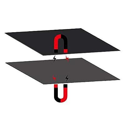 3D Printer Heated Bed Platform, FYSETC 200X200 mm New Flex Magnetic Bed Build Plate 2 in 1 with Adhesive Backing Build Surface for Maker Select Plus V2 Prusa i3 Vinci 1.0 Tarantula I3 Ultimate Printer