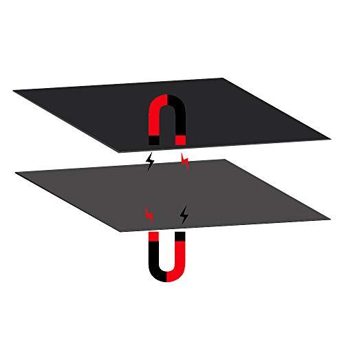 FYSETC - Plataforma de cama con calefacción para impresora 3D (200 x 200 mm, imantada y flexible) 2 en 1 con superficie adhesiva para Maker Select Plus V2 Prusa i3 Vinci1.0 Tarantula I3 Ultimate