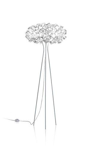 Slamp Kunststoff Stehleuchte/Slamp-Leuchten Clizia in Weiß | Handgefertigt in Italien | Stehlampe Modern | Lampe E27