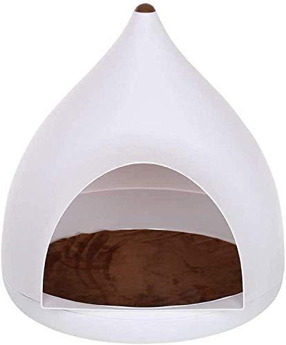 TETHYSUN Cama para mascotas Casa de gato con alfombrilla para mascotas gratis Pet Cat Puppy House Bed Hole plástico impermeable refugio mejorar dormir