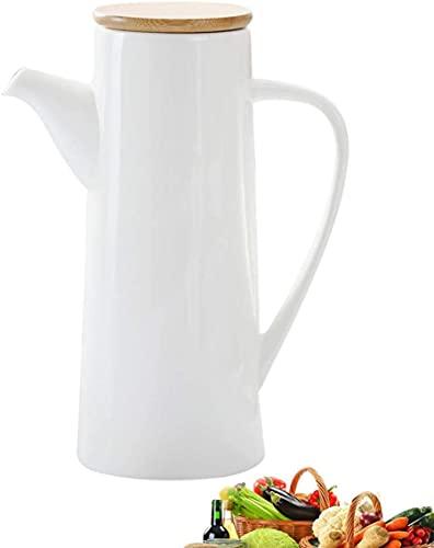 qwert Dispensador De La Botella De La Botella De Vinagre De Aceite Salsa De Oliva A Prueba De Polvo Y A Prueba De Fugas con La Botella De Madera De Sprob De Vertido