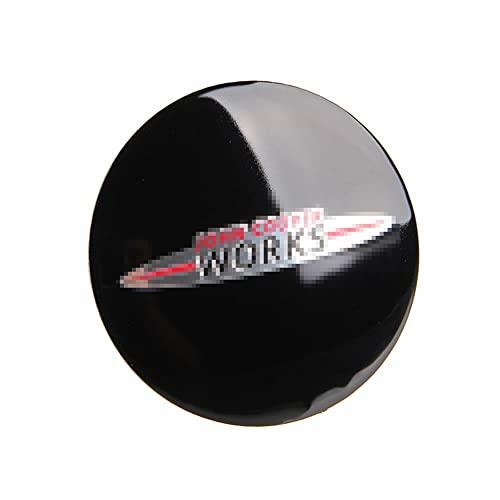 56.5mm Rueda de aluminio Center Caps Caps Emblema Pegatina Compatible con Mini Cobre R50 R52 R53 R55 R56 R57 R58 R59 R60 R60