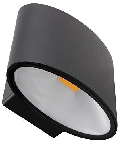 McShine - Lámpara LED de pared para interior y exterior   WL-25   2 x 5 W, 600 lm, blanco cálido, 3000 K, IP44.