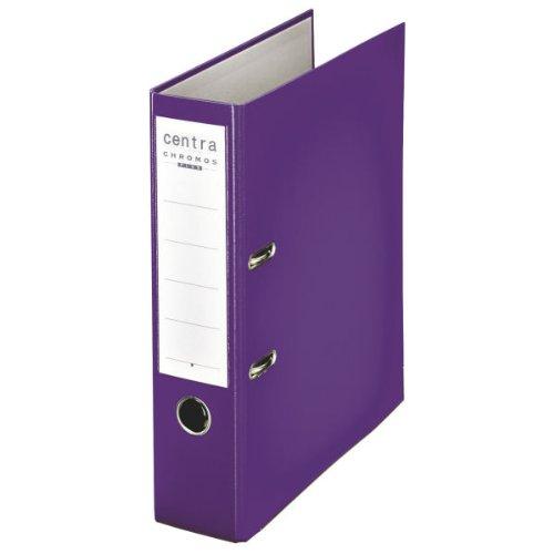Centra 230140 Standard-Ordner (grauappe RC, mit PP-Folie kaschiert, A4, 8 cm Rückenbreite, Chromos) violett