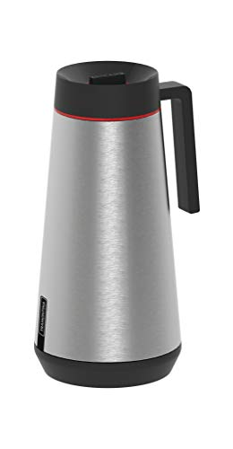 Tramontina Thermoskanne mit Griff | Isolierkanne | Thermo-Getränkespende | Edelstahl | Kaffeekanne | 0,75 Liter, graphit, 61645-070