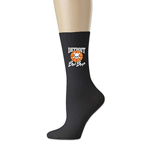 TUCBOA Unisex Socks,De-Troit Pistons Bad Boys Calcetines De Vestir, Calcetines Ligeros Informales Hasta La Rodilla Para Senderismo En El Gimnasio,18cm