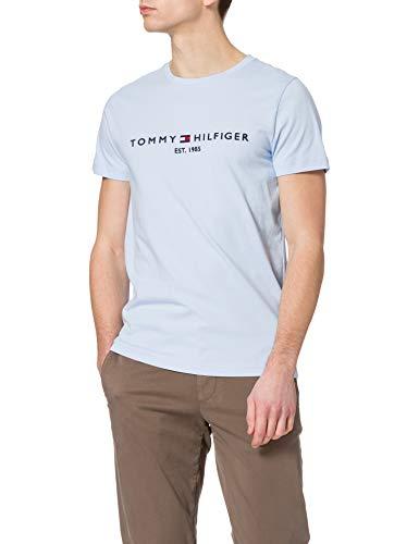 Tommy Hilfiger Tommy Logo Tee T-Shirt, Blu Dolce, M Uomo