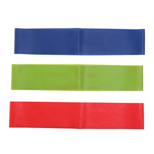 FRCOLOR 3 STÜCKE Widerstandsbänder Fitnessbänder Loops für Yoga Pilates Reha-Sport (drei Farben)