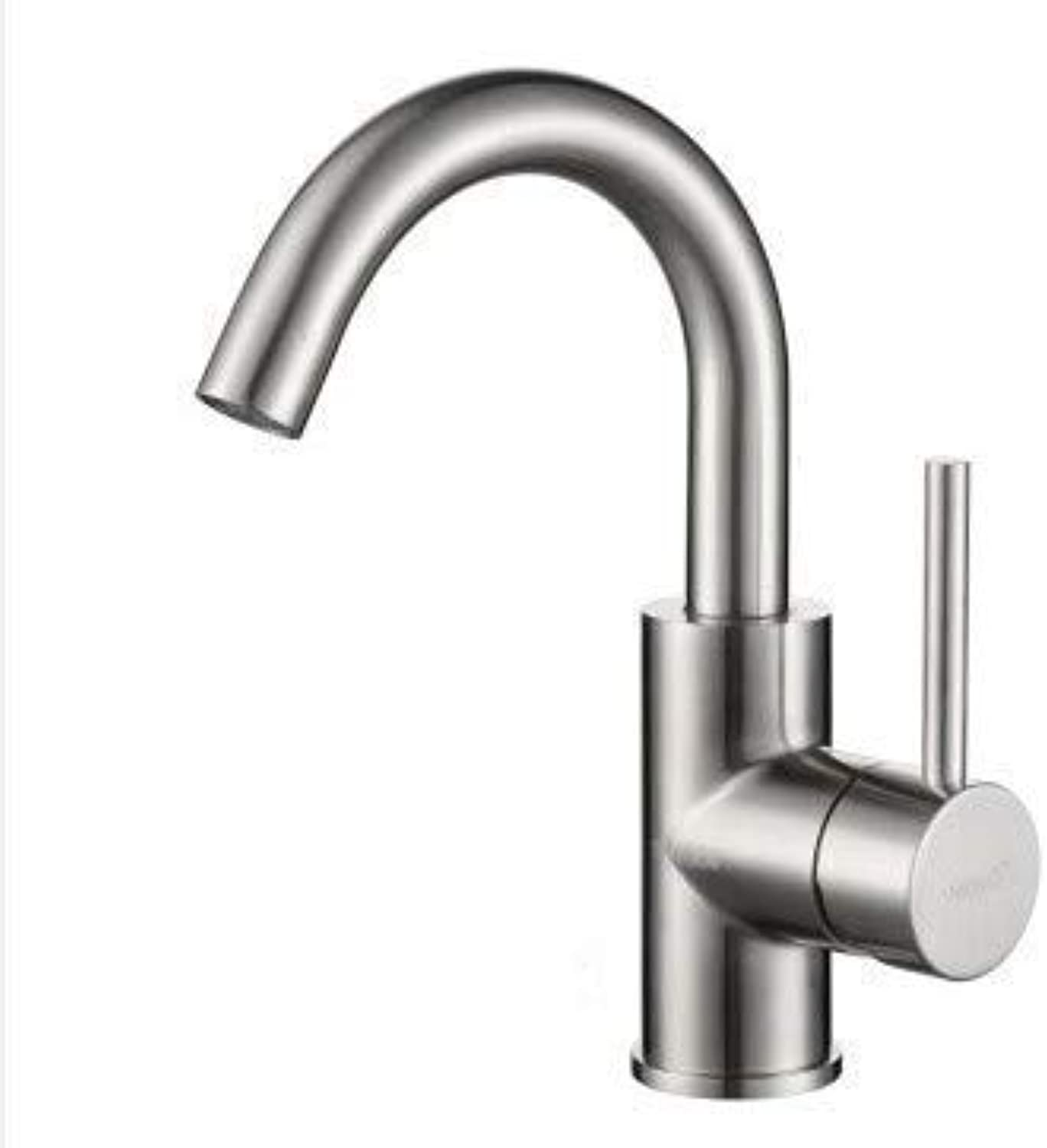 Oudan Basin Mixer Tap Bathroom Sink Faucet Stainless steel basin mixer bathroom can be redated, B (color   B)