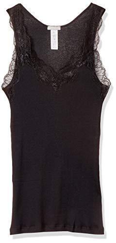 Hanro Damen Lace Delight Wäsche & Lingerie Unterhemd, Schwarz (Black 0019), 44 (Herstellungsgröße: M)
