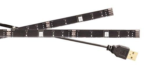 König KNM-ML2RGB USB TV-Stimmungslicht LED 2Streifen 50 cm RGB mit Fernbedienung