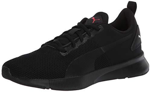 PUMA Unisex-Adult Flyer Runner Sneaker, Black-High Risk Red, 10.5 M US