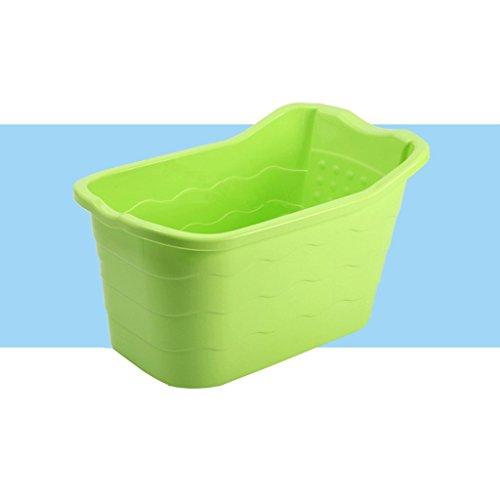 Fenfen Baignoire de bébé Baignoire de bébé Baignoire bébé Baignoire, Bleu/Rose/Vert/Blanc, 88.5 * 51 * 46cm (Color : Green)