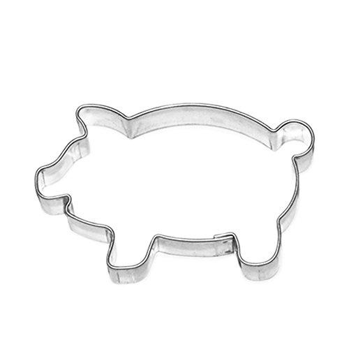 Ausstecher Keksausstecher Plätzchenform Schwein Schweinchen Glücksschwein, Edelstahl, ca. 7 cm, spülmaschinenfest