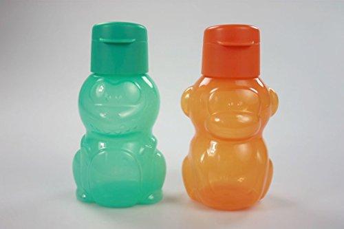 TUPPERWARE Kinder 350 ml orange Affe+Dino türkis EcoEasy Flasche Trinkflasche P 22777