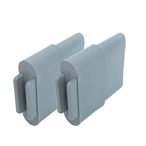 DIWARO® Endstabgleiter | Größe 30mm x 14mm | Farbe grau | Material Kunststoff | für Endleiste, Endschiene, Winkelendschiene | Rolladenpanzer, Jalousie, Rollo