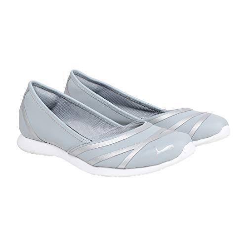 Puma Women's Vega Ballet Sl Idp Quarry and Silver Ballet Flats - 5 UK/India (38 EU)