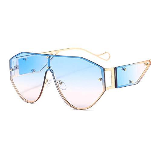 Sen Maries Fashion One Lens Gafas de sol Mujer Remache Gafas de sol de lujo Espejo Hombres Sombras Gafas Trend Eyewear Uv400 6