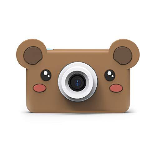 Appareil Photo numérique pour Enfants de Zoofamily de 24MP avec Un Design Animalier|Appareil Photo caméscope Portable avec écran IPS 2.0 et microSD 16 Go pour garçons et Filles - Ours
