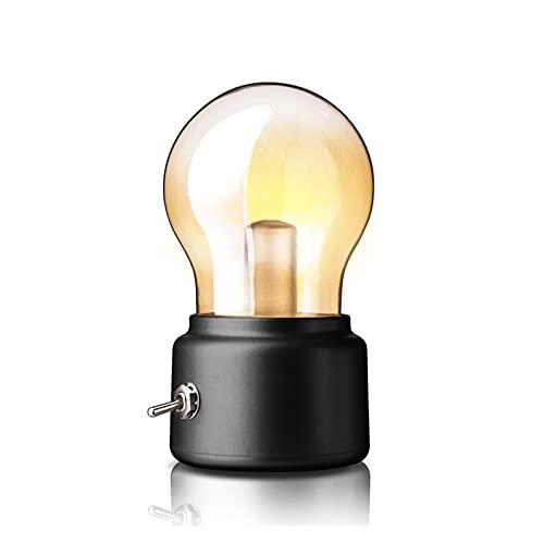Creative retro nostálgico bulbo británico lámpara recargable USB noche luz de la noche ambiente de la cama de la luz de la luz de la luz de la luz de la luz del regalo de la noche del gabinete de la c