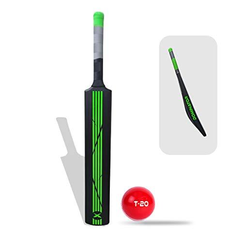 Jaspo Dominator Senior Plastic Cricket Full Size Bat (34†X 4.5†inch) for All Age Group with Soft Cricket Ball, Plastic, green