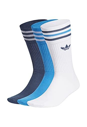 adidas GN3074 SOLID CREW SOCK Socks unisex-adult white/true blue/crew navy 3134