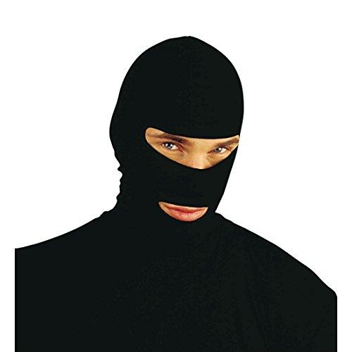 Ninja Sturmmaske Schwarze Gesichtshaube Einbrecher Maske Fasching Bandit Kopfhaube (Keine Vorschläge) Sturmmaske Ganove Faschingsmaske Skimaske Halloween Mottoparty Accessoire Karneval Kostüm Zubehör
