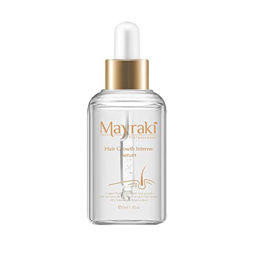 Price comparison product image Mayraki Hair Growth Serum - Intense (45 ml / 1.52 fl. oz),  Hair Growth Serum Women with Copper Peptides,  Hair Serum for Women,  Hair Products for Hair Loss and Hair Thinning,  Hair Growth Peptide Serum