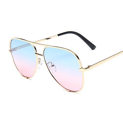 WQZYY&ASDCD Gafas de Sol Gafas De Sol Clásicas Retro para Mujer Gafas De Sol Mujer Moda Retro Negro Degradado-Blue_Pink