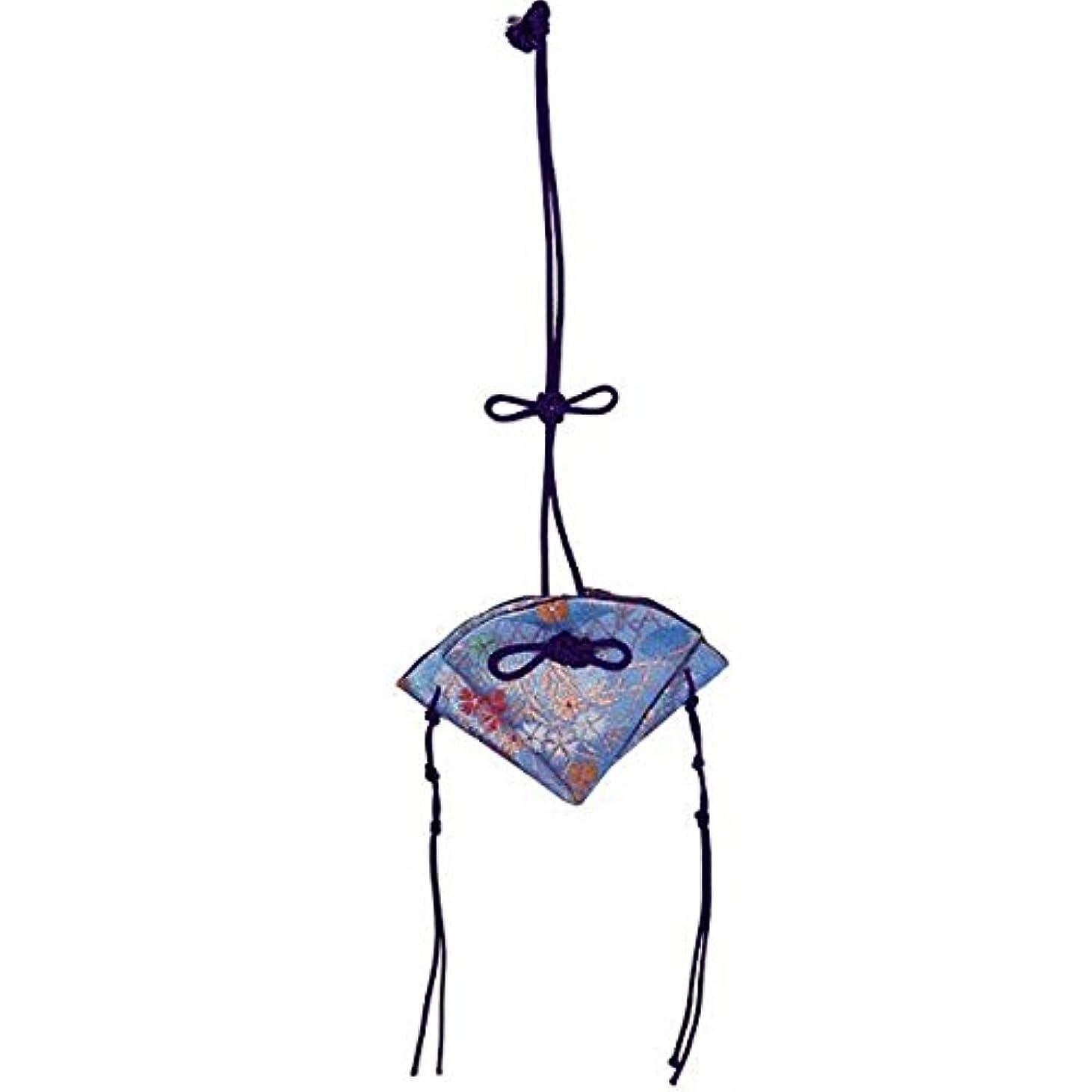 マーチャンダイザー宣言するジャベスウィルソン掛香 扇 撫子 水色(紫紐)