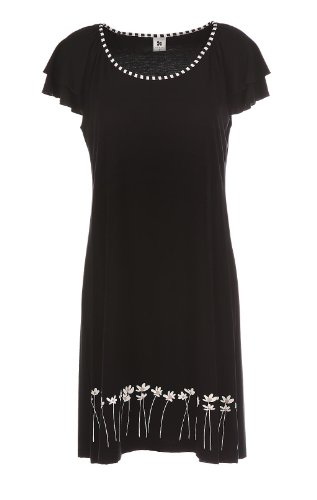 Nanso Short Dress/kurzes Nachthemd, NA20305, Gr. S, schwarz