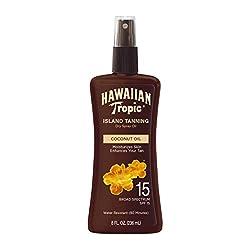 small Hawaiian Tropic Sunscreen Dry Tanning Oil Wide Spectrum Sunscreen Spray -…