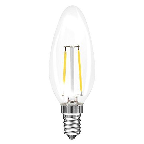 Müller-Licht LED-Filament,10-er Set, 2 W mit E14 Sockel, klar ML24617 [Energieklasse A++]