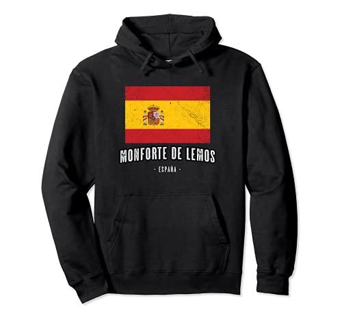 Monforte de Lemos España   Souvenir - Ciudad - Bandera - Sudadera con Capucha