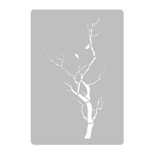 Wiederverwendbare Wandschablone aus Kunststoff // 65x95cm // Ast - Zweig // Muster Schablone Vorlage