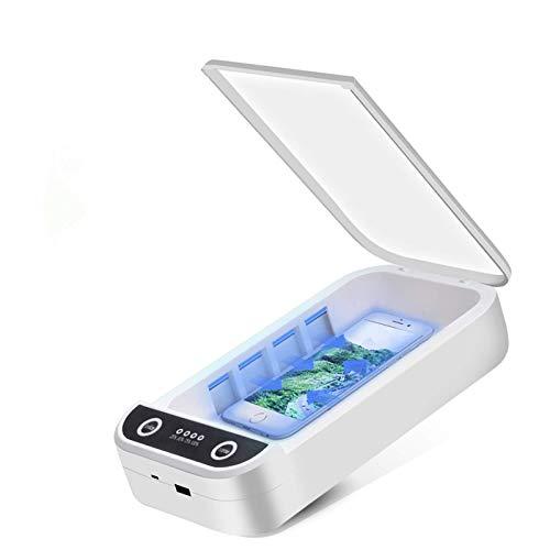 UV-Desinfektionsbox für Mobiltelefone, tragbare Desinfektionsbox für Smartphone-Sterilisatoren, Desinfektionsbox mit Aromafunktion, geeignet für Make-up-Tools, Brillen, Uhren, Masken, Schlüssel