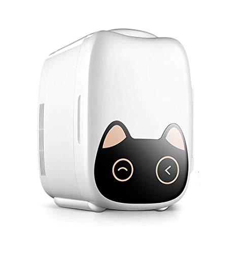 ZOUSHUAIDEDIAN Mini Refrigerador portátil Personal, Cools y calores de 6 litros de Capacidad, Incluye enchufes for Outlet y 12V Cargador de Coche, Blanca