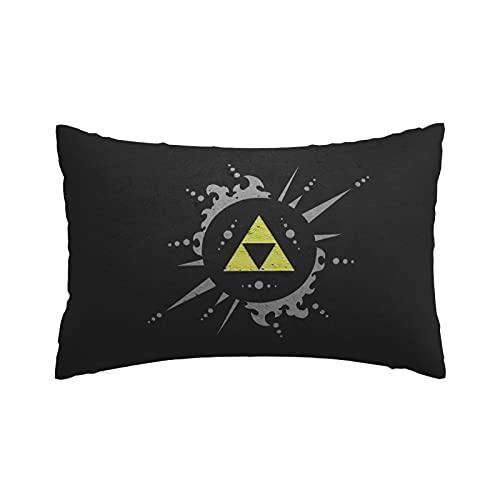 Legend of Zelda - Funda de almohada con cremallera invisible, diseño de lino, duradero, estilo fresco, de algodón, doble bolsa de verano, 50,8 x 76,2 cm